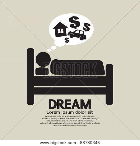 Sleep Person Symbol.