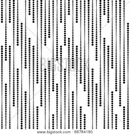 Stripes Of Halftone Dots, Vector Seamless Pattern