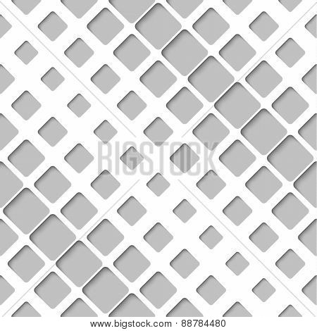 Abstract Diagonal Paper Lattice, Vector Seamless Pattern