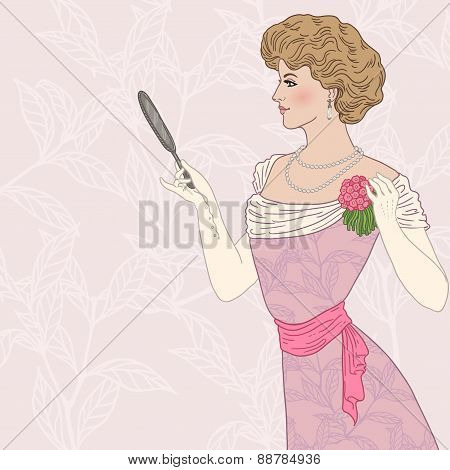 Beautiful victorian lady