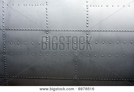 Metal Paneling Of A Vintage Aircraft