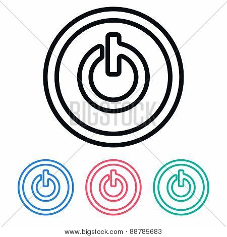 Simple Power On Icon, Vector Illustration