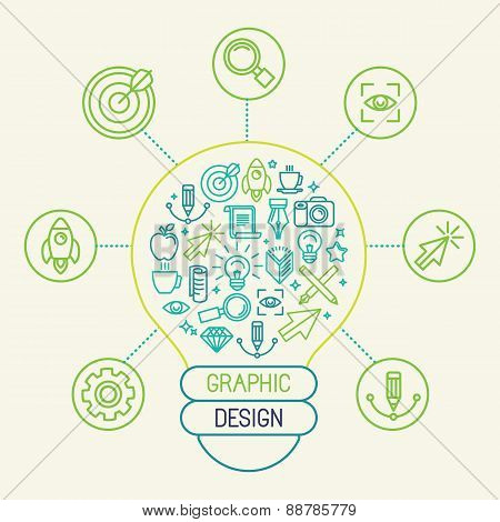 Vector Graphic Design Concept