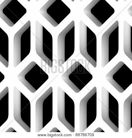 3D Lattice Vector Seamless Pattern