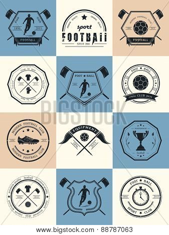 Vector Set Of Football Badges And Icons