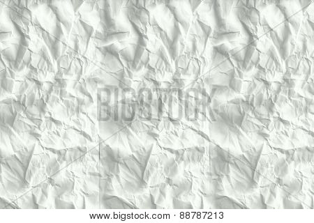 Crumpled white page with large copy space