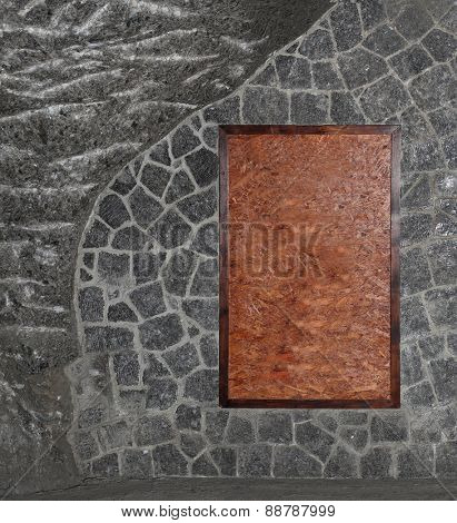 frame on stones background