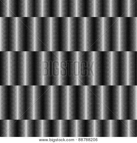 Op Art Design, Striped Checkered Vector Seamless Pattern
