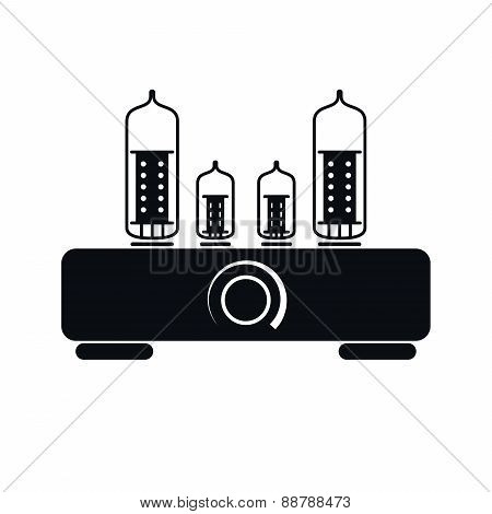 Tube Amplifier Icon, Vector Illustration