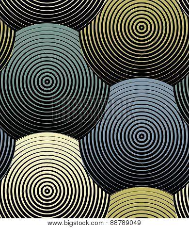 Striped Shells Vector Seamless Pattern