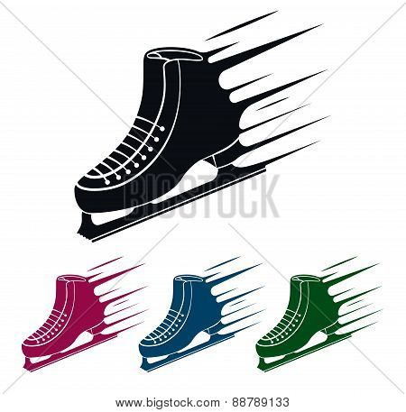 Ice Skate Icon, Vector Illustration