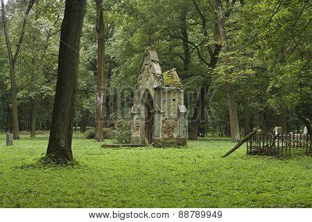 Ruined burial vault