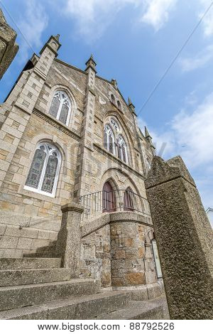 Wesleyan Methodist Church in Marazion in cornwall england uk