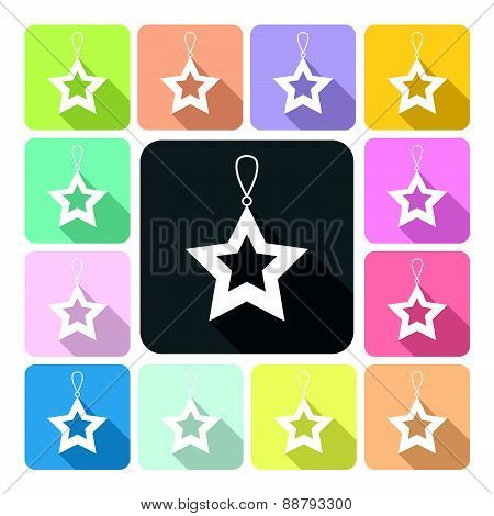 Star Icon Color Set Vector Illustration