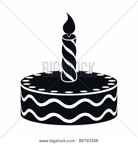 Birthday Cake Icon, Vector Illustration
