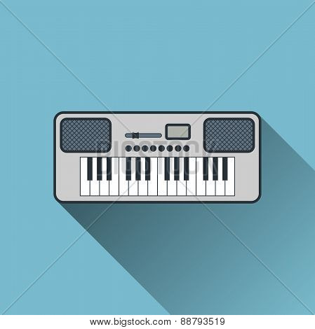 Synthesizer Icon, Vector Illustration