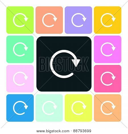 Refresh Icon Color Set Vector Illustration
