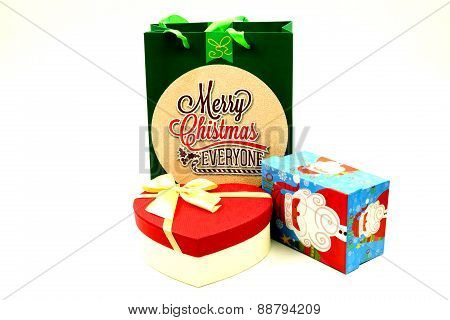 Christmas Gift Box and Paper Bag