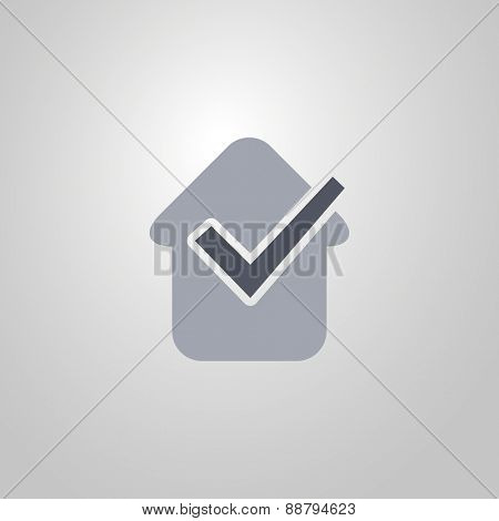 Tick Icon. Flat Design Style