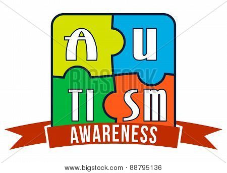 Autism Awareness T-shirt Typography, Vector Illustration