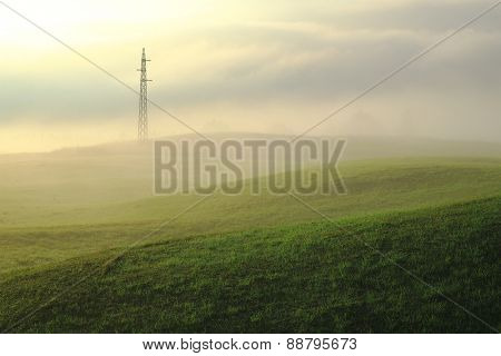 misty morning on a dreamy landscape, Montenegro