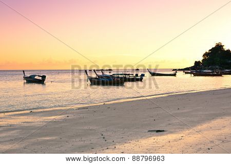 Boats at the beach of Koh Lipe
