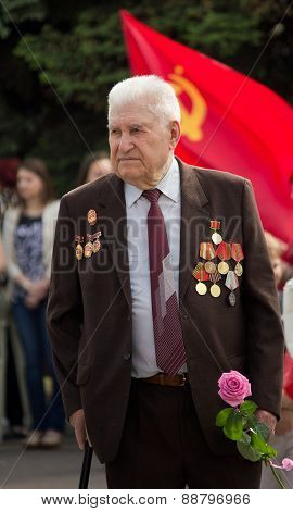 Makeevka, Ukraine - May, 9, 2012: Veteran Of World War Ii During The Celebration Of The Anniversary