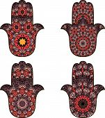picture of hamsa  - Drawing of a four orange - JPG