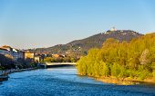 stock photo of turin  - View of Turin over the Po River  - JPG