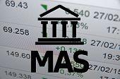 pic of macroeconomics  - Building icon with inscription MAS - JPG
