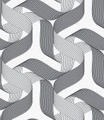 pic of ribbon  - Seamless geometric background - JPG