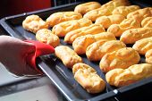 picture of eclairs  - Baking Eclair Cookie in the Oven - JPG