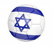 stock photo of israeli flag  - Realistic sports item render of a soccer ball - JPG