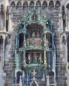 stock photo of bavaria  - detail of the town hall Munich - JPG