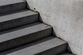 picture of stairway  - Abstract modern concrete stairs to building  - JPG