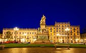 picture of turin  - Statue of Camillo Benso Count of Cavour in Turin  - JPG