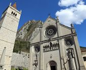 picture of rebuilt  - Cathedral Church of the town of GEMONA in North Italy rebuilt after the earthquake - JPG