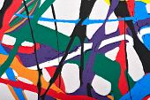 image of strip  - Abstract acrylic modern painting fragment - JPG