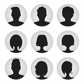 foto of cameos  - vector set of colorful user profile illustrations - JPG