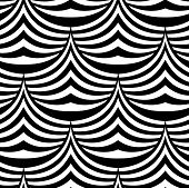 pic of spike  - Abstract Waves and Spikes Vector Black and White Seamless Pattern - JPG