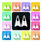 image of fin  - Fin Icon color set vector illustration  - JPG