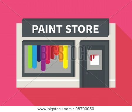 Vector flat hardware shop, paint store