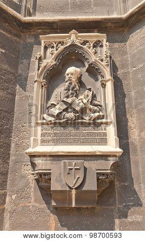 Friedrich Von Schmidt Memorial Plaque In Vienna, Austria