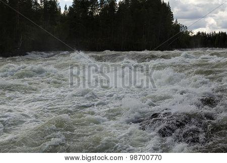 Foamy river