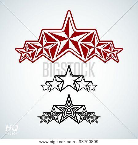 Vector eps8 union symbol. Festive design element with stars, decorative luxury template.
