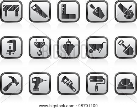 Construction industry and Tools icons