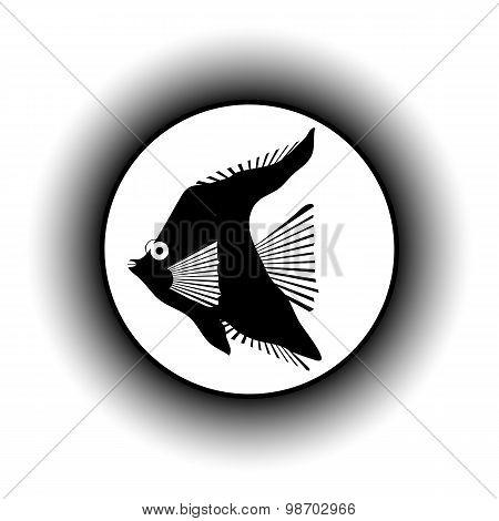 Tropic Fish Button.