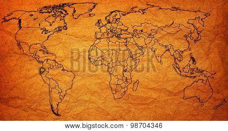 Ecuador Territory On World Map