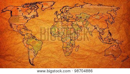 Surinam Territory On World Map