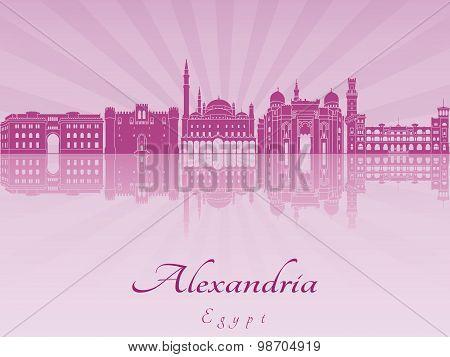 Alexandria Skyline In Purple Radiant Orchid